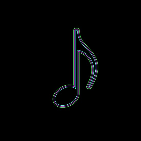 Quaver Music Note Glowing Design By Puzzledcellist