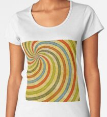 60's swirls Women's Premium T-Shirt
