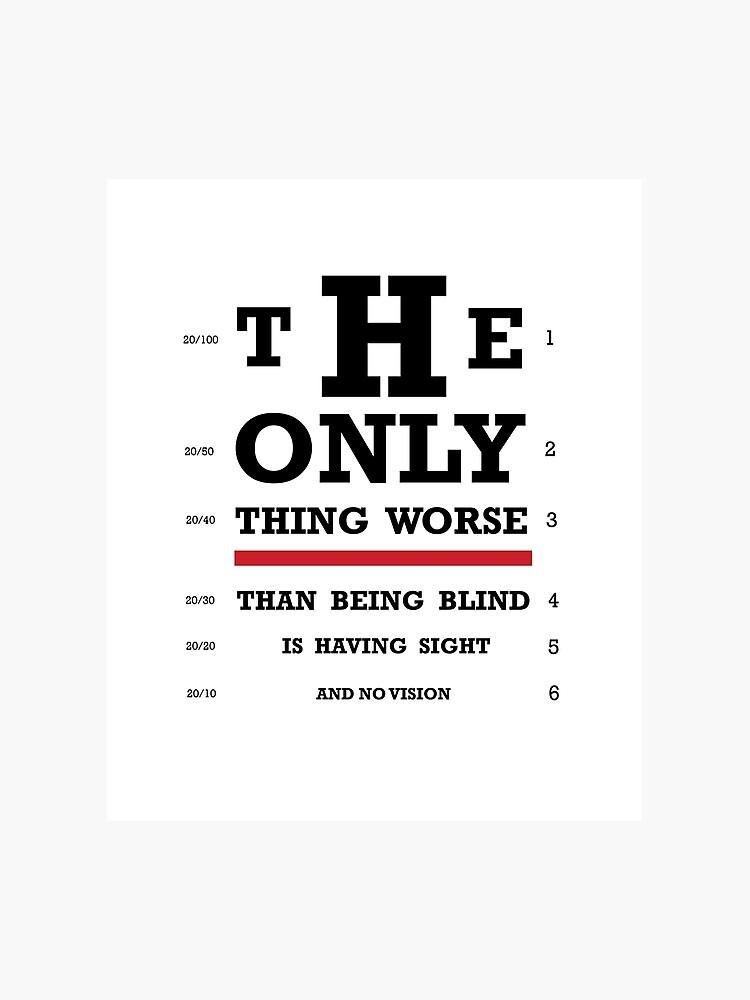 image relating to Printable Eye Chart referred to as Eyesight Eye Chart Photographic Print