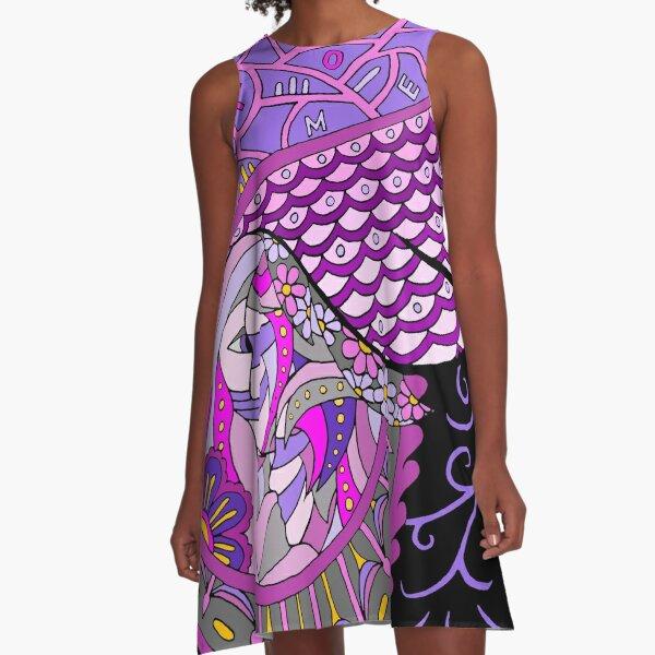Wingish lilac single A-Line Dress