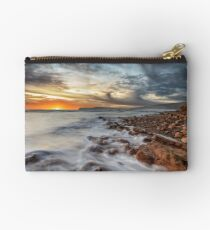 Compton Bay Sunset Isle Of Wight Studio Pouch