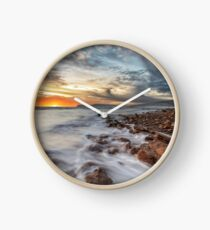 Compton Bay Sunset Isle Of Wight Clock