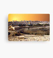 Jerusalem sunset Canvas Print