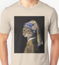 Cat with a Pearl Earring T-Shirt