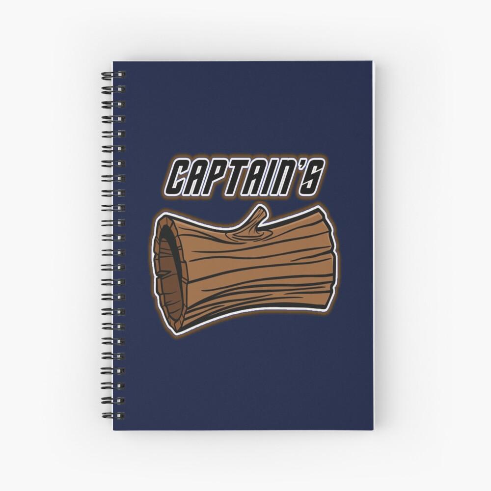 STAR TREK CAPTAINS LOG DESIGN -star trek rb partner program Spiral Notebook
