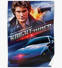 Knight Rider - Hasselhoff  Poster