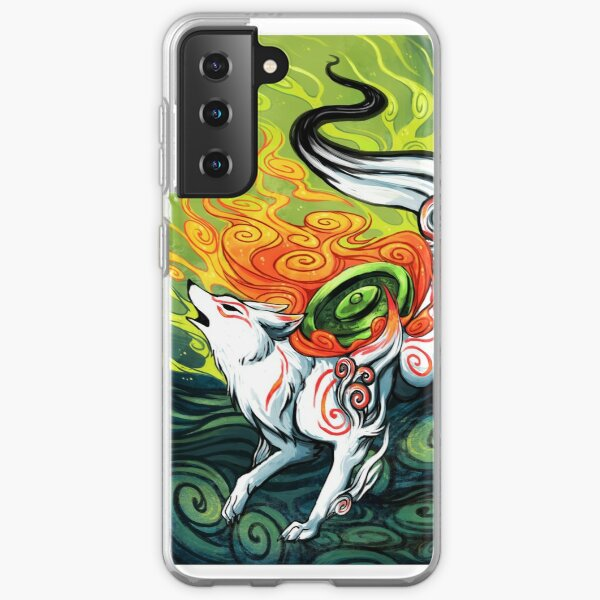 okami den, amaterasu, wolf Samsung Galaxy Soft Case