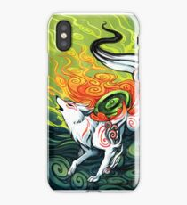 okami den, amaterasu, wolf iPhone Case/Skin