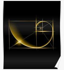 Fibonacci: Goldener Schnitt Poster