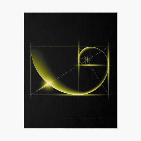 Fibonacci: Golden Ratio Art Board Print