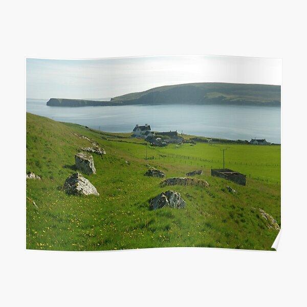 Fetlar - Cruss Hill, Shetland Islands Poster