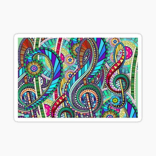 Music Carnival Design Sticker
