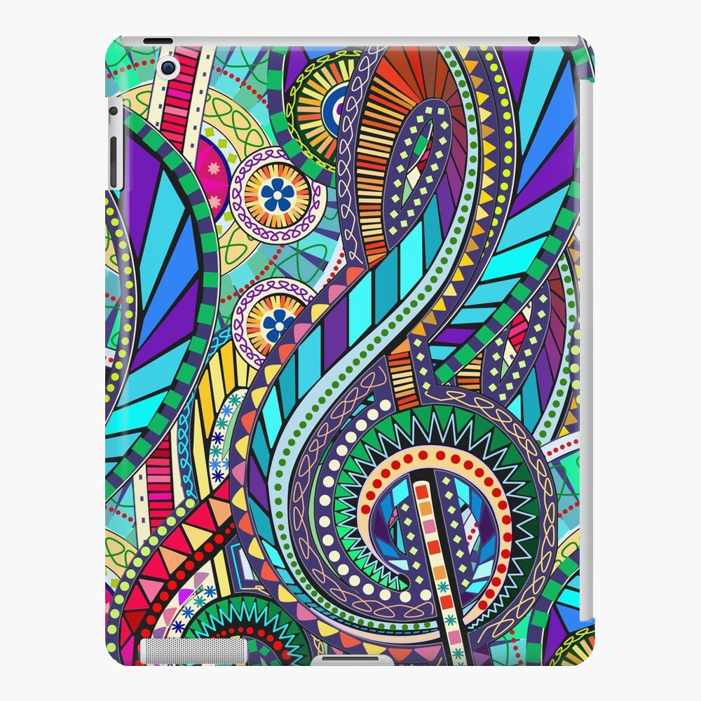 Music Carnival Design iPad Case & Skin