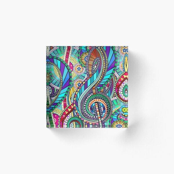 Music Carnival Design Acrylic Block