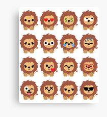 Lion Emoji Canvas Print  sc 1 st  Redbubble & Lion Emoji: Wall Art | Redbubble