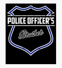 Police Officer's Brother Police Shirt For Boys & Men Photographic Print