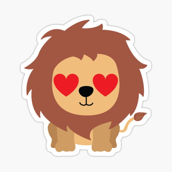 Lion Emoji Stickers Redbubble Available in png and vector. redbubble