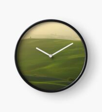 Morning Lights in Val d'Orcia Clock