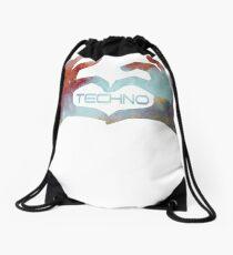 Techno love farbe Drawstring Bag