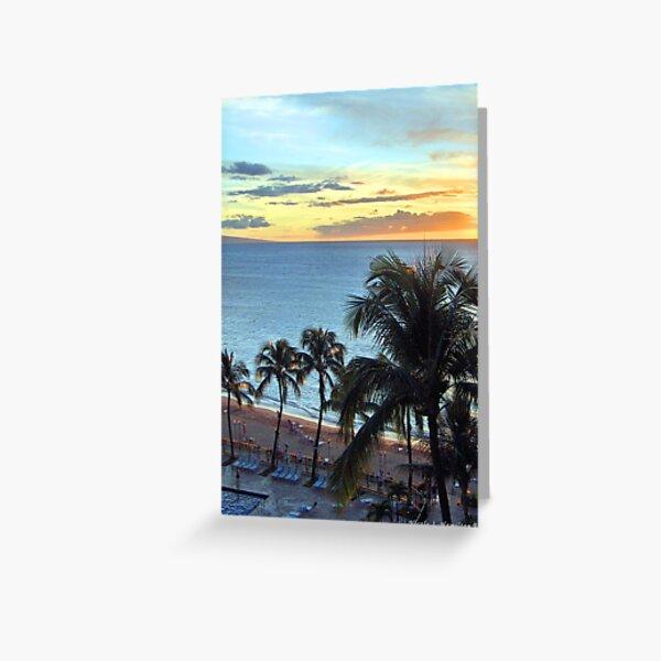 Resort Sunset Greeting Card