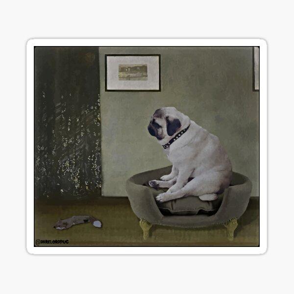 Whistler's Pug Sticker