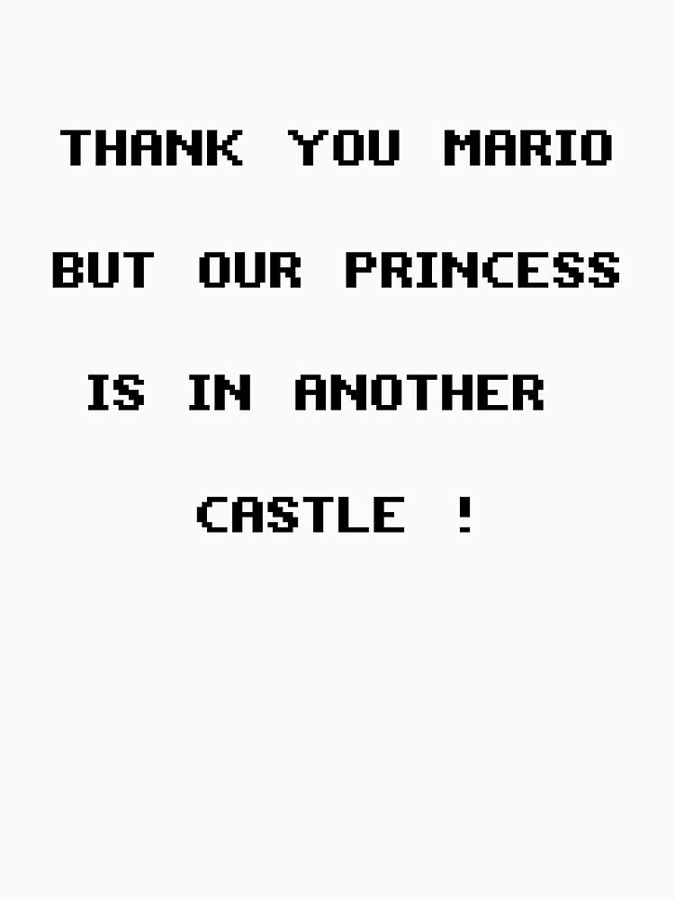 Thank You Mario Unisex T Shirt By Vinchtef Redbubble