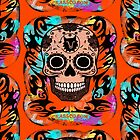 SKULL TRIBAL ORANGE von fuxart