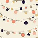 Christmas Garlands #redbubble #decor #xmas by designdn