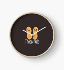These nuts, adult humour  Clock