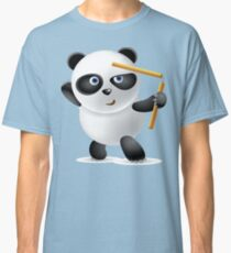 Cute Funny Humor Powerful Nunchaku Panda Classic T-Shirt