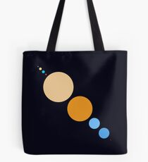 Planets To Scale (diagonal) Tote Bag