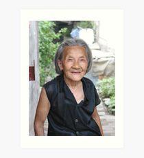 Hutong Grandma Art Print
