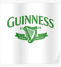 Guiness green Poster
