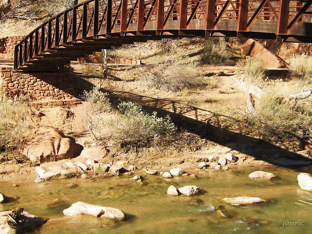 Bridge and Shadow in Zion by jsmusic