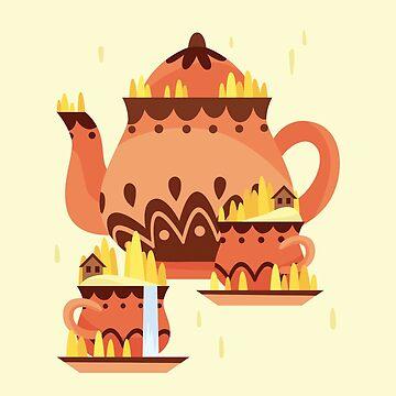 Tea Set Island by ShanelleO