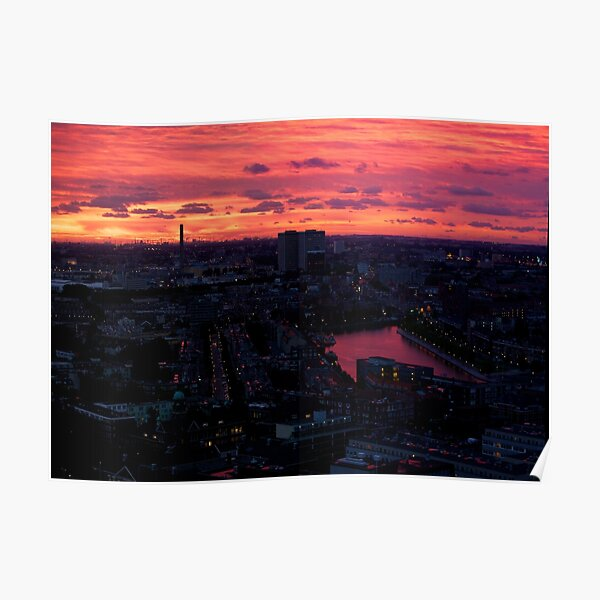 Rotterdam at Sunset, from Euromast Poster