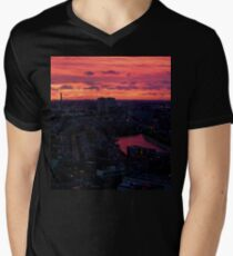 Rotterdam at Sunset, from Euromast Men's V-Neck T-Shirt