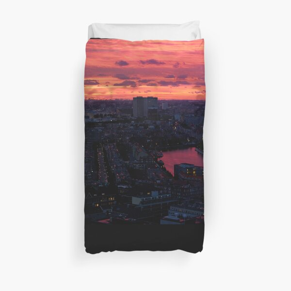 Rotterdam at Sunset, from Euromast Duvet Cover