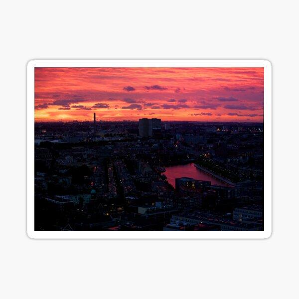 Rotterdam at Sunset, from Euromast Sticker
