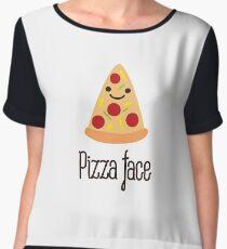 Pizza face Women's Chiffon Top