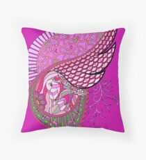 Wingish pink single Throw Pillow