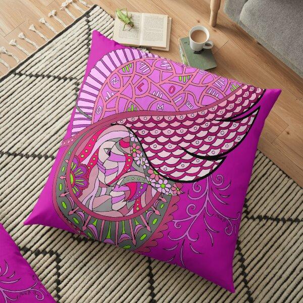 Wingish pink single Floor Pillow