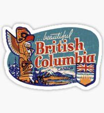 Beautiful British Columbia Vintage Sticker