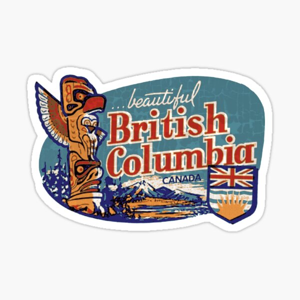 Beautiful British Columbia Vintage Sticker