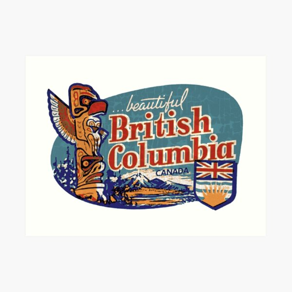 Beautiful British Columbia Vintage Art Print
