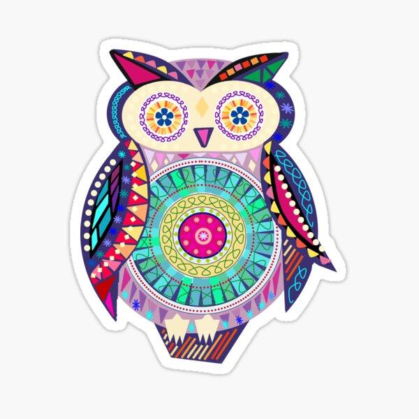 Carnival Owl Sticker