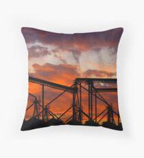 Sunset Granary Throw Pillow