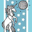 70s Eyeshadow Uniquorn - #inktober 2017 unicorn illustration by mellierosetest