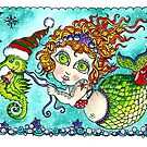 Chubby Mermaid and Seahorse Christmas by ChubbyMermaid