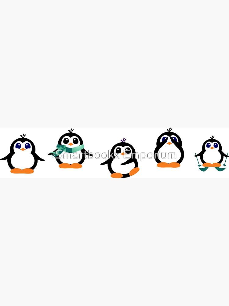 Cute Penguin Fun Cartoon Group by FionaHolt